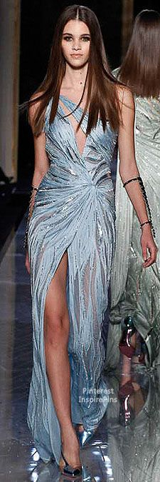 Spring 2014 Couture Atelier Versace Silvers & Greys are the current runway trend this season for gowns or bridesmaids