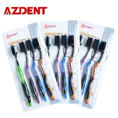 Free Shipping Bamboo Charcoal Toothbrush 12 Pcs Sets Nano Brush Oral Care 625 Nano-antibacterial Toothbrush Black Heads
