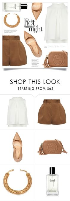 """""""I'm Ready For The Summer Nights"""" by marina-volaric ❤ liked on Polyvore featuring Versace, Sergio Rossi, Gucci, House of Lavande and Bobbi Brown Cosmetics"""