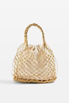 Shakira Gold Woven Shopper Bag