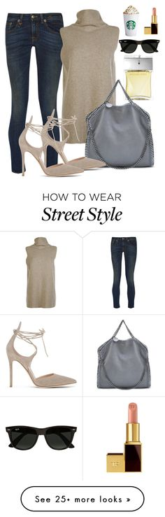 """""""street style in NYC"""" by alexiszadeh on Polyvore featuring Michael Kors, R13, The Row, STELLA McCARTNEY, Gianvito Rossi, Ray-Ban and Tom Ford"""