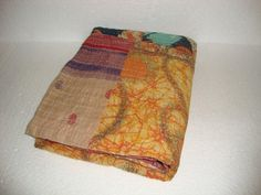 Indian Traditional Kantha Quilt Reversible by Antiquecollections