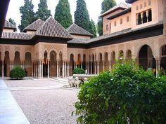 Courtyard of Al-Hambra Mosque  Granada, Spain