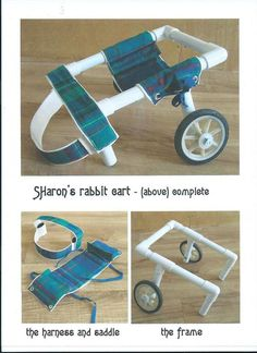 rabbit wheelchair part 1 - Kaninchen Diy Dog Wheelchair, Dog Ramp, Bunny Care, Animal Projects, Disabled Dog, Diy Stuffed Animals, Dog Harness, Pet Shop, Small Dogs