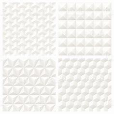 Sfondo bianco carta 3d motivo geometrico senza soluzione di continuità sfondo illustrazione royalty-free
