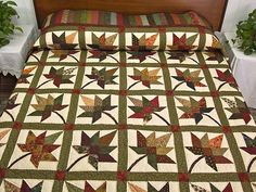 autumn quilts | Autumn Splendor Quilt -- magnificent meticulously made Amish Quilts ...