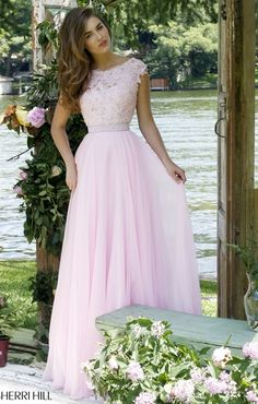 2016 Cheap Lace Pink Prom Dress Outlet Sleeved V-back Beaded Sherri Hill 50041 [Pink Sherri Hill . Sherri Hill Prom Dresses, Prom Dresses 2015, Trendy Dresses, Dance Dresses, Evening Dresses, Party Dresses, Occasion Dresses, Prom Gowns, Quinceanera Dresses