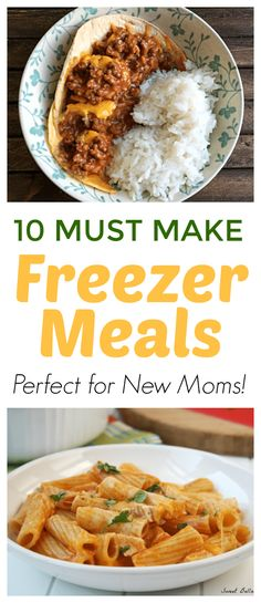 Freezer Meals for New Moms! Stock up on these freezable meals before baby comes, trust me!! These easy freezer recipes are perfect to take to a new mom or mom to be.