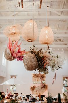 Eliminate your summer wedding with coral wedding decorations. Coral wedding color combinations will make the atmosphere looks lively and warm. Flower Installation, Ceiling Installation, Boho Wedding, Floral Wedding, Summer Wedding, Yacht Wedding, Wedding Bouquets, Wedding Flowers, Wedding Venues