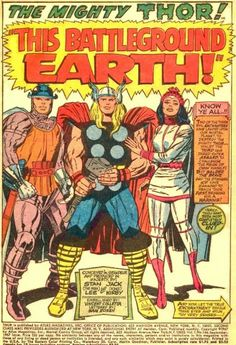 The Mighty Thor by Jack Kirby Comic Book Pages, Comic Page, Comic Book Artists, Comic Artist, Comic Books Art, Asgard Marvel, Jack Kirby Art, Book Creator, The Mighty Thor