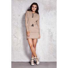 Daydress model 35744 Infinite You Best Online Fashion Stores, Lingerie, Beige, American Apparel, Women Wear, High Neck Dress, Satin, Unisex, Tank Tops