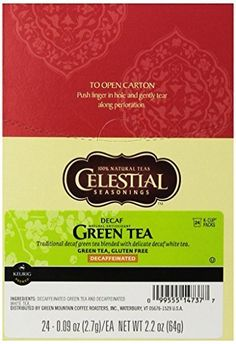 Celestial Seasonings Decaf Green Tea, K-Cup Portion Pack for Keurig K-Cup Brewers, 24-Count Size: 24 Count Model: T14737 (Home and Kitchen) by Celestial Seasonings *** You can find out more details at the link of the image. (This is an affiliate link) #GreenTea