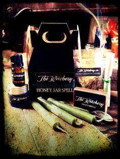 Money Drawing  Honey Jar Mini Spell Kit by WitcheryWay on Etsy
