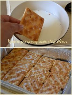 gr 2017 06 syntagi-millefeuille-me-cream-crackers-kai-anthos-aravositou. Greek Sweets, Greek Desserts, Cold Desserts, Summer Desserts, Greek Recipes, Desert Recipes, Easy Desserts, Easy Sweets, Sweets Recipes