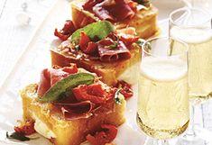 #Recette de pain doré salé au proscuitto et mozzarella!