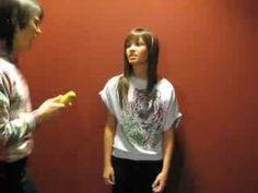 """Fine Take Your Banana""-Joe Jonas and Demi Lovato-Soap Opera I LOVE THIS!!! LOL"