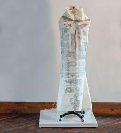 Grethe Wittrock artwork out of sails and paper Gold Leaf, Fiber, Vase, Sculpture, Artwork, Home Decor, Work Of Art, Decoration Home, Auguste Rodin Artwork