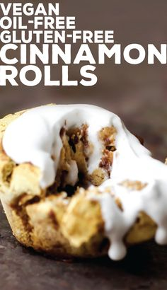 Vegan Oil-Free, Gluten-Free Cinnamon Rolls // Feasting on Fruit