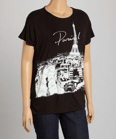 Love this Black 'Paris' Graphic Tee - Plus by Boom Boom on #zulily! #zulilyfinds