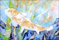 Koi Joy, watercolor fish painting lesson