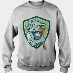 #Elephant Plumber Mascot Monkey Wrench Shield Retro T-Shirt, Order HERE ==> https://www.sunfrog.com/Funny/121455623-624226086.html?53624, Please tag & share with your friends who would love it, #xmasgifts #superbowl #christmasgifts