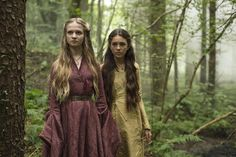 A young Cersei Lannister, walking in the woods on Casterly Rock with a friend, going to visit a witch who can tell your future by answering three questions that you ask her.