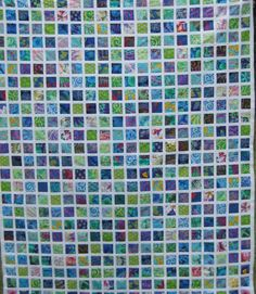 Kaffe Fassett quilt made from a jelly roll from I QUILT FOR FUN