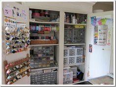 How I organized an armoire for my craft supplies