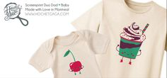 "Duo papa / bébé de Hochet Gaga ""la cerise sur le sundae"""