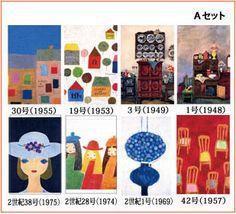 花森安治が描いた「暮しの手帖」の表紙画から8枚ずつを選んで、ポストカードを作りました。