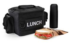 """Only kids carry a metal lunchbox with pictures of """"The Brady Bunch"""" on it! (Hey, how come I can't get a """"The Goldbergs"""" lunchbox on CafePress?) Real men carry this military grade lunch bag!"""