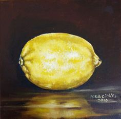 "Buy "" A Lemon"", Oil painting by Hanna Kaciniel on Artfinder. Discover thousands… Lemon Oil, Oil Painting On Canvas, Still Life, Artworks, Original Art, Art Pieces"