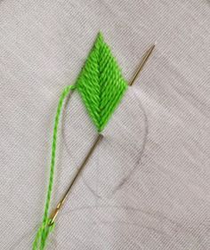The first stitch that comes to my mind with the thought of embroidering a leaf is the Fishbone Stitch. It is from the family of crossed sti. Royce's Hub: Embroidery Stitches For Leaves : Fishbone Stitch and Variations - 1 Resultado de imagem para how to e Embroidery Leaf, Embroidery Stitches Tutorial, Sewing Stitches, Hand Embroidery Patterns, Embroidery Techniques, Cross Stitch Embroidery, Embroidery Designs, Simple Embroidery, Beginner Embroidery