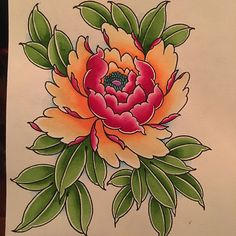 Rose Tattoos, Flower Tattoos, Body Art Tattoos, Japanese Flower Tattoo, Japanese Flowers, Acrylic Painting Flowers, Fabric Painting, Japan Flower, Traditional Tattoo Flowers