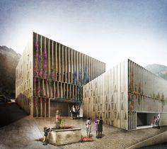 Multifunctional Center  /// Façade civique + Place publique ///