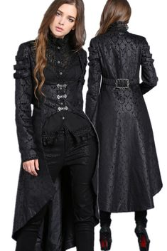 JW091 Gothic floor-length dovetail gown jacket coat