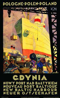 plakat GDYNIA - Stefan Norblin :: Babaryba