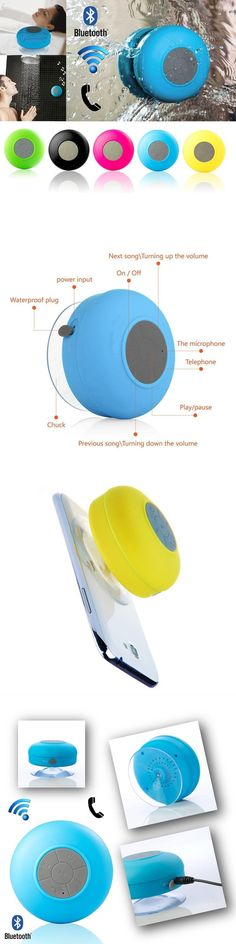 Portable Audio & Video Bluetooth Speaker Portable Mini Wireless Waterproof Shower Speakers for Phone MP3 Hand Free Car bathroom colorful Speaker BTS06