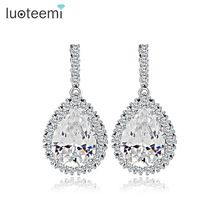 US $4.50     Buy Jewelry At Wholesale Prices!     FREE Shipping Worldwide     Get it here ---> http://jewelry-steals.com/products/luoteemi-aaa-cubic-zirconia-classic-big-drop-crystal-earrings-with-tiny-cz-luxury-bridal-wedding-earrings-for-women-wholesale/    #fashion