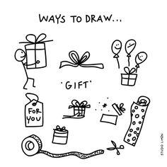 208 vind-ik-leuks, 2 reacties - Studio Limón (@studiolimonillustrations) op Instagram: 'For you! Word of day 56: gift. . . #365waystodrawfestival #boxingday #tweedekerstdag #gift #kado…'