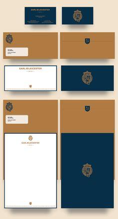 Earl of Leicester Logo Design on Behance Corporate Identity Design, Brand Identity Design, Graphic Design Branding, Graphic Design Posters, Stationery Design, Visual Identity, Personal Identity, Identity Branding, Brochure Design