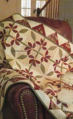 Poinsettia Wreaths Quilt Pattern Pieced/Applique AW