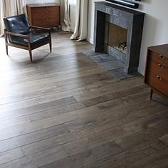 Manoir Gray Reclaimed Floors: This flooring is reclaimed Aged French Oak.  I think that gray wood floors are the most elegant and luxurious flooring available.