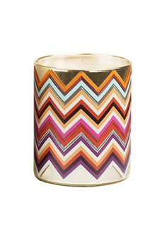 A colorful Missoni candle to light up their desk or nightstand.