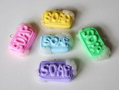 Polymer Clay Soap Charm by ImprssvlyPredictable on Etsy, $10.00