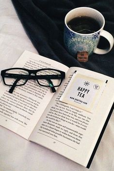 Nothing like hot tea and a good book.