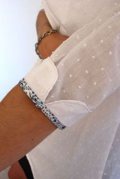 cuff detail - Liberty print binding