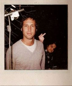 Chevy Chase and John Belushi bird