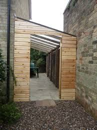 Image result for lean to shed using wall of house and wooden fence