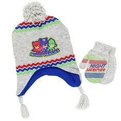 79d5726ca91 PJ Masks Boys Hat and Mittens Set  Disney  PjMasks  BoysHatAndGloves   WinterFashion  GiftsForKids  GiftsForHim  FunApparel  FunStartsHere  YTB   FreeShipping